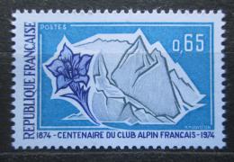 Poštovní známka Francie 1974 Alpský spolek, 100. výroèí Mi# 1868