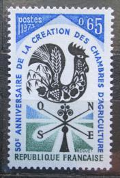 Poštovní známka Francie 1973 Zemìdìlská komora, 50. výroèí Mi# 1858
