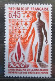 Poštovní známka Francie 1973 Deklarace lidských práv, 25. výroèí Mi# 1861