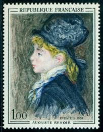 Poštovní známka Francie 1968 Umìní, Pierre-Auguste Renoir Mi# 1643