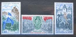 Poštovní známky Francie 1968 Slavní Francouzi Mi# 1644-46