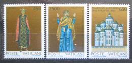 Poštovní známky Vatikán 1988 Christianizace Kyjevského knížectví Mi# 946-48