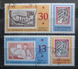 Poštovní známky Kuba 1972 výstava MATEX Mi# 1819-20