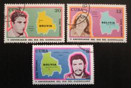 Poštovní známky Kuba 1972 Guerrilla, Che Guevara Mi# 1813-15