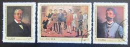 Poštovní známky Kuba 1971 Umìní Mi# 1730-32