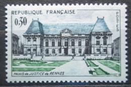 Poštovní známka Francie 1962 Justièní palác v Rennes Mi# 1405