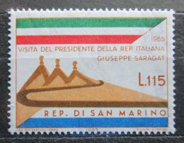 Poštovní známka San Marino 1965 Návštìva italského prezidenta Mi# 849
