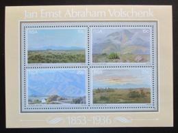 Poštovní známky JAR 1978 Umìní, Jan Ernst Abraham Volschenk Mi# Block 6