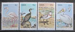 Poštovní známky Namíbie, SWA 1979 Vodní ptáci Mi# 458-61