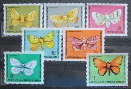 Poštovní známky Mongolsko 1977 Motýli Mi# 1099-1105 Kat 9€