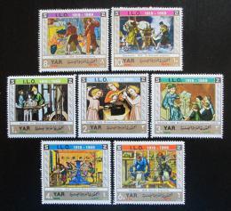 Poštovní známky Jemen 1969 ILO, 50. výroèí Mi# 938-44 Kat 9€