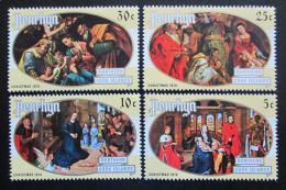 Poštovní známky Penrhyn 1974 Vánoce, umìní Mi# 58-61