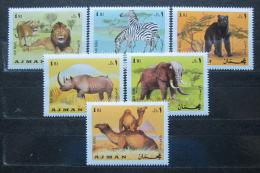 Poštovní známky Adžmán 1969 Savci Mi# 412-17