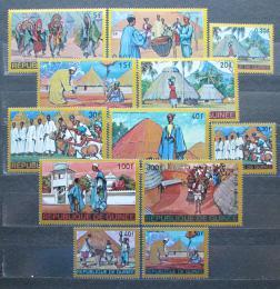 Poštovní známky Guinea 1968 Tradièní kroje a slavnosti Mi# 468-79 Kat 9.50€