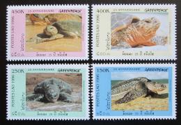 Poštovní známky Laos 1996 Moøské želvy Mi# 1547-50 Kat 8€