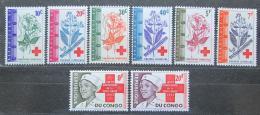 Poštovní známky Kongo Dem. 1963 Mezinárodní èervený køíž Mi# 119-26