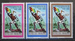 Poštovní známky Rwanda 1974 Revoluce, 15. výroèí Mi# 667-69 Kat 18€
