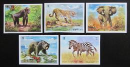 Poštovní známky Umm al-Kuvajn 1971 Africká fauna neperf. Mi# 478-82 B