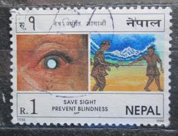 Poštovní známka Nepál 1998 Kampaò Pomoc slepým Mi# 677