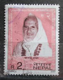 Poštovní známka Nepál 2001 Khaptad Baba, lékaøka a spisovatelka Mi# 728