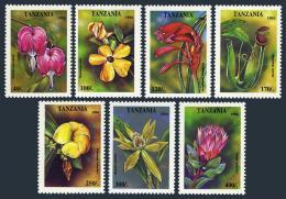 Poštovní známky Tanzánie 1994 Kvìtiny Mi# 1880-86