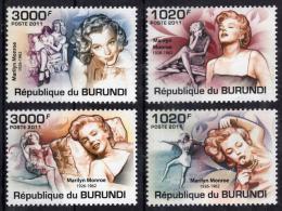 Poštovní známky Burundi 2011 Marilyn Monroe Mi# 2218-21 Kat 9.50€
