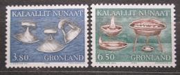 Poštovní známky Grónsko 1986 Pøedmìty bìžné potøeby Mi# 165-66