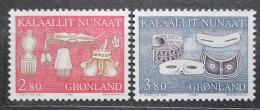 Poštovní známky Grónsko 1987 Pøedmìty bežné potøeby Mi# 174-75