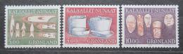 Poštovní známky Grónsko 1988 Staré pøedmìty bìžné potøeby Mi# 186-88 Kat 6.50€