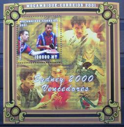 Poštovní známka Mosambik 2001 LOH Sydney Mi# Block 85 Kat 10€