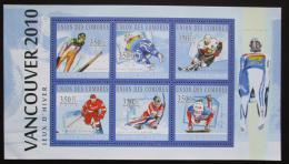 Poštovní známky Komory 2010 ZOH Vancouver Mi# 2894-99 Kat 10€