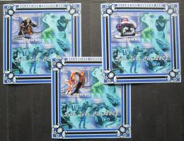 Poštovní známky Mosambik 2001 ZOH Salt Lake City Mi# Block 90-92 Kat 30€