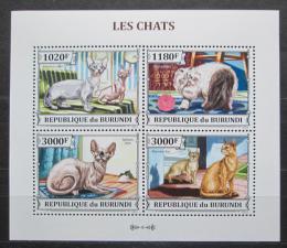 Poštovní známky Burundi 2013 Koèky Mi# 3248-51 Kat 9.90€