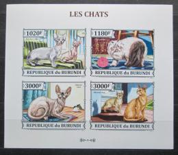 Poštovní známky Burundi 2013 Koèky neperf.,Mi# 3248-51 B