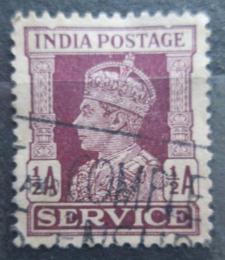 Poštovní známka Indie 1942 Král Jiøí VI., služební Mi# 104