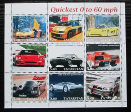 Poštovní známky Tatarstán, Rusko 2001 Nejrychlejší automobily Mi# N/N