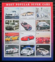 Poštovní známky Kalmycká rep., Rusko 2001 Oblíbené luxusní automobily Mi# N/N