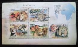 Poštovní známky Komory 2011 Koèkovité šelmy Mi# 3043-47 Bogen Kat 10€