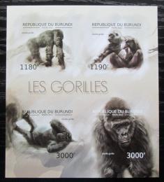 Poštovní známky Burundi 2012 Gorila západní neperf. Mi# 2848-51 B Bogen