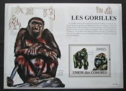 Poštovní známka Komory 2009 Gorily Mi# Block 478 Kat 15€