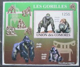 Poštovní známka Komory 2009 Gorily Mi# 2142 Block