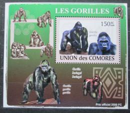 Poštovní známka Komory 2009 Gorily Mi# 2143 Block