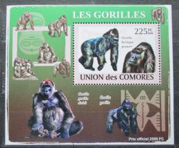 Poštovní známka Komory 2009 Gorily Mi# 2144 Block