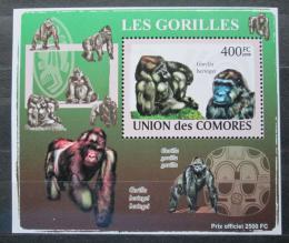Poštovní známka Komory 2009 Gorily Mi# 2146 Block