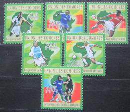Poštovní známky Komory 2010 Afriètí fotbalisti Mi# 2831-36 Kat 10€
