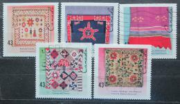 Poštovní známky Kanada 1993 Ruènì vyrábìné textílie Mi# 1350-54