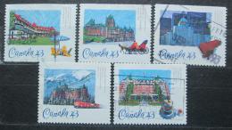 Poštovní známky Kanada 1993 Historické hotely Mi# 1356-60
