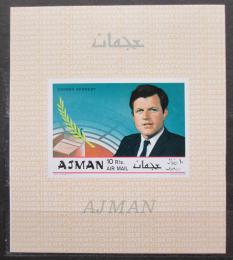 Poštovní známka Adžmán 1969 Robert Kennedy neperf. Mi# Block 124 B Kat 15€