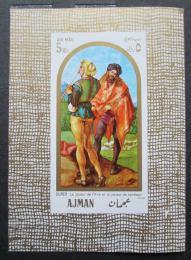 Poštovní známka Adžmán 1968 Umìní, Albrecht Dürer Mi# Block 24