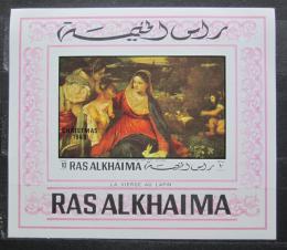 Poštovní známka Rás al-Chajma 1970 Vánoce, Umìní neperf. Mi# Block 78 B Kat 10€